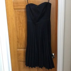 J. Crew Strapless pleated cocktail dress